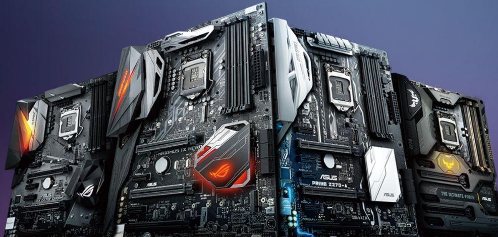 CGI image of four z270 motherboards