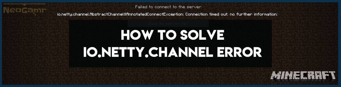 Cover Image of How to Solve IO.netty.channel Error