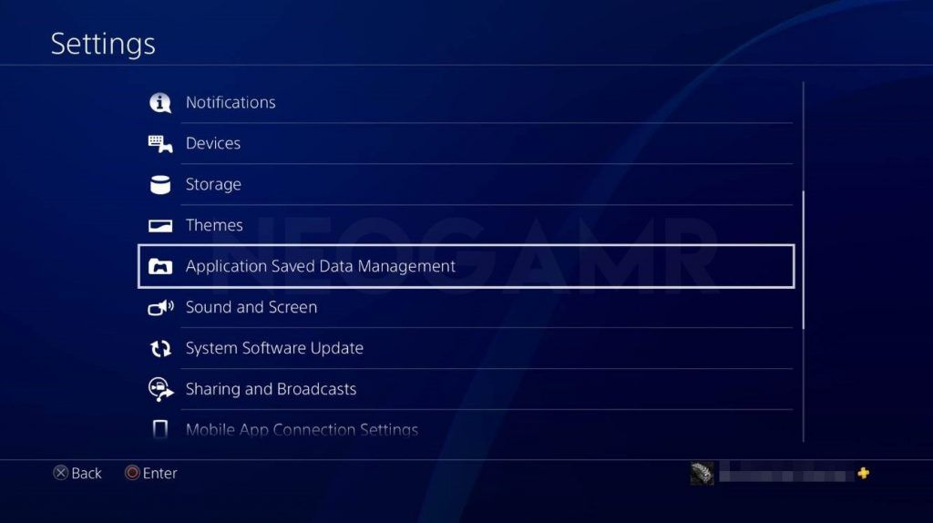 Ps4 settings dashboard