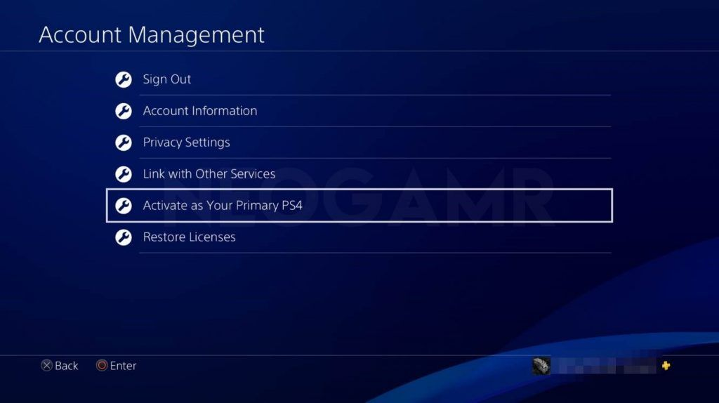 how to activate your ps4 as primary