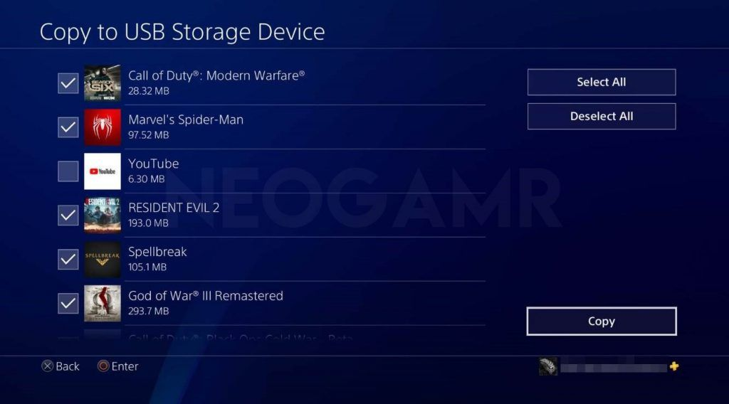 showing how to copy your ps4 data into usb stick
