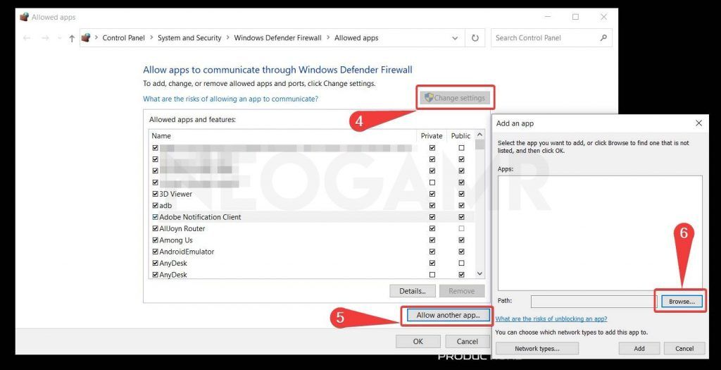 showing how to exclude app from firewall in windows 10