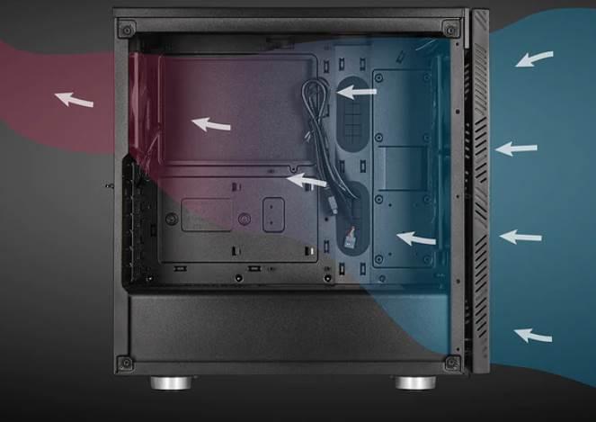 Airflow of Corsair Gaming PC Case