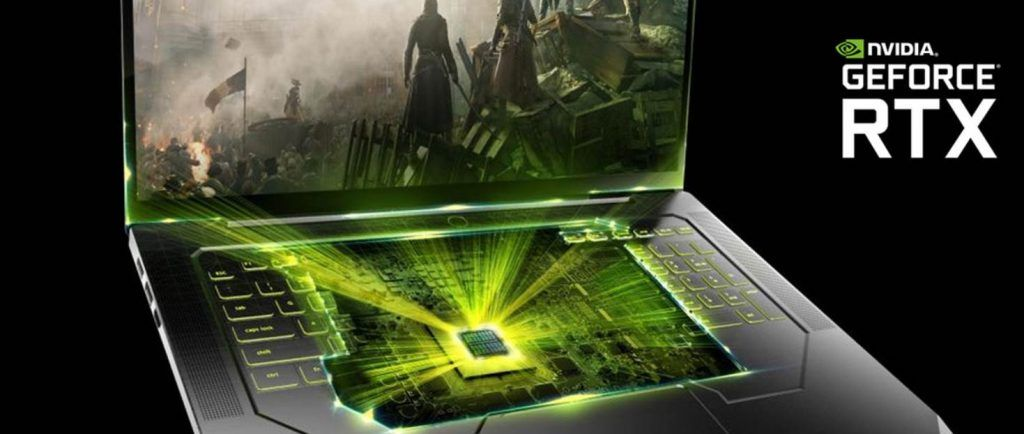 CGI image of 20 Series Nvidia Mobile GPU in Laptop