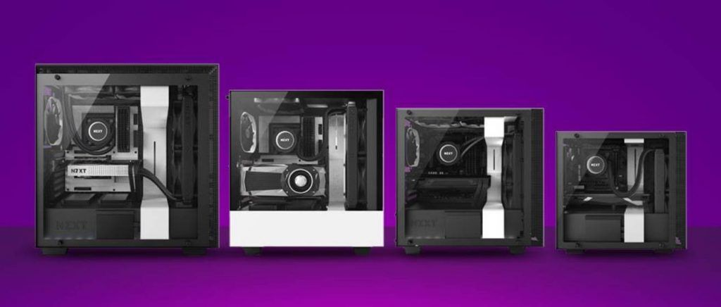Different types of PC Cases by NZXT