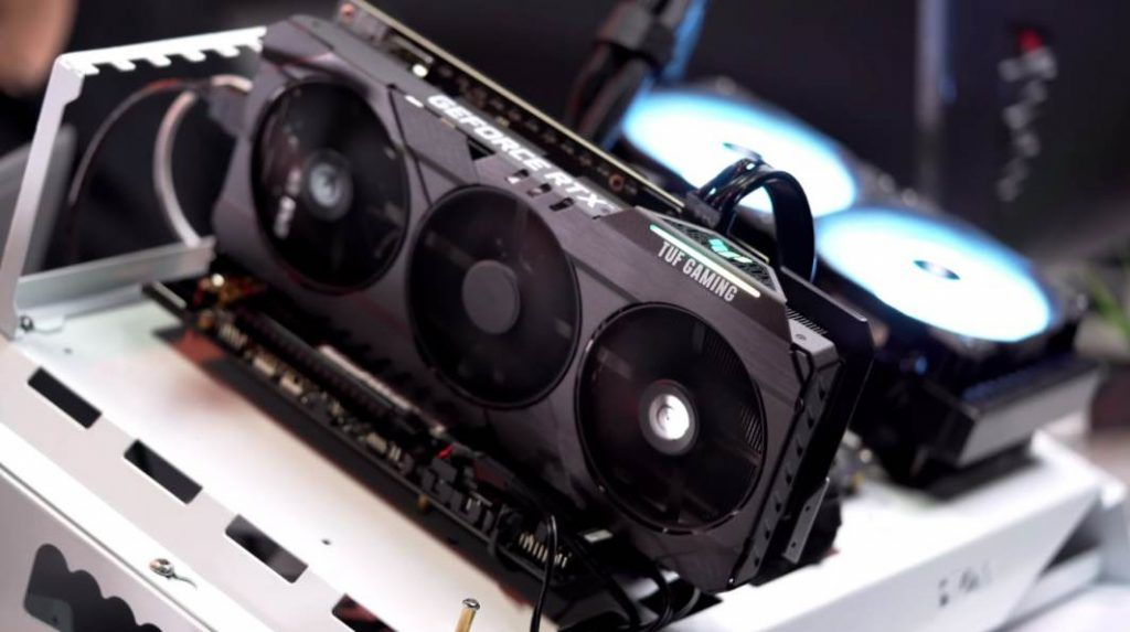 Image of ASUS TUF RTX 3070 testing coolings