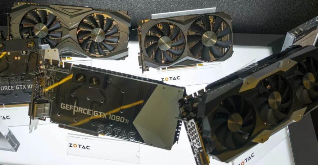 Image of Multiple GTX 1080 ti GPUS