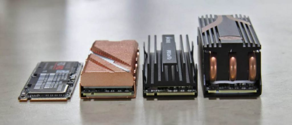 Image of four nvme ssd on a table
