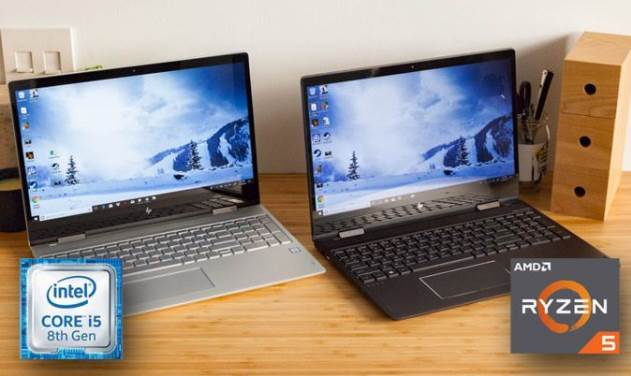 Image of two laptops on the desk