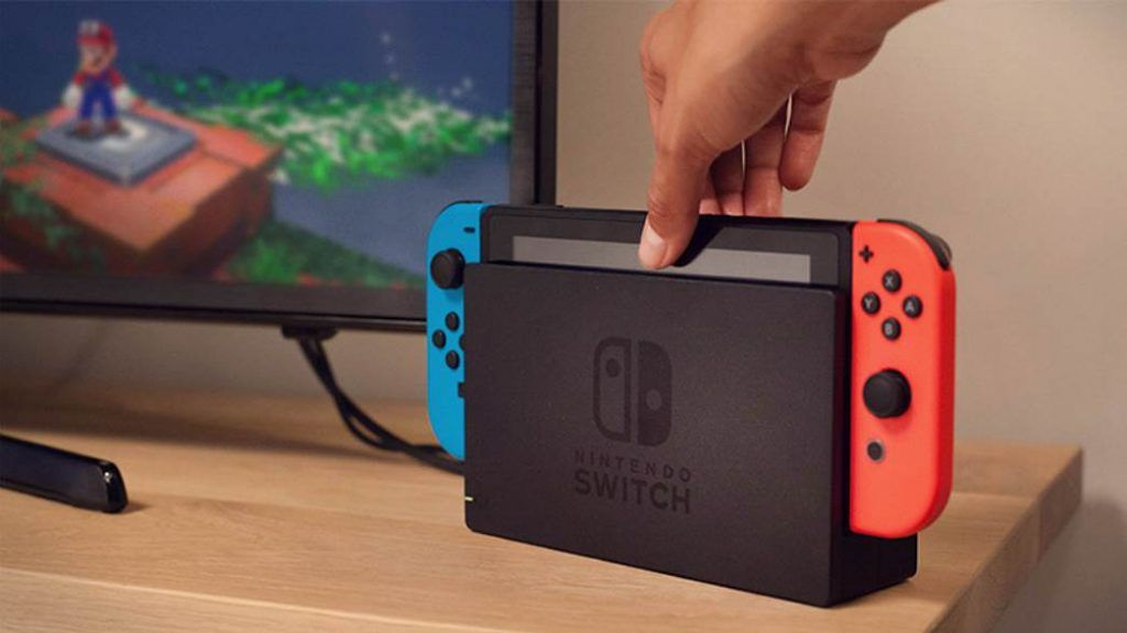 Showing nintendo switch in Dock mode