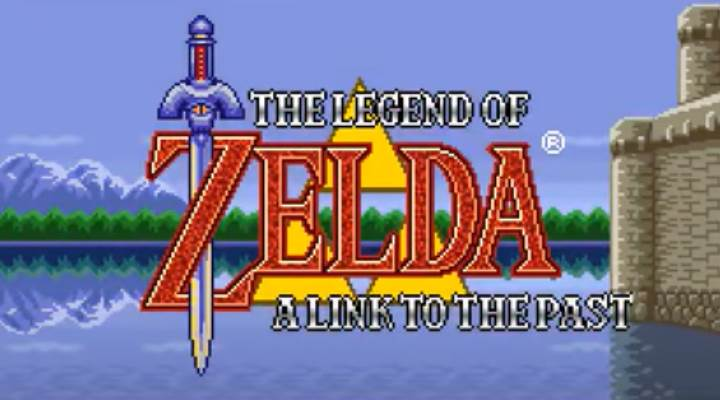 Start Screen of The Legend of Zelda A Link to the Past