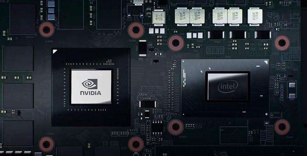 CGI Image of GPU and CPU inside Razer Blade 15