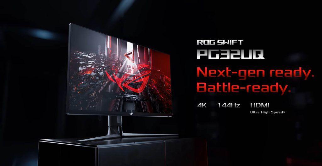 CGI of ASUS PG32UQ Monitor