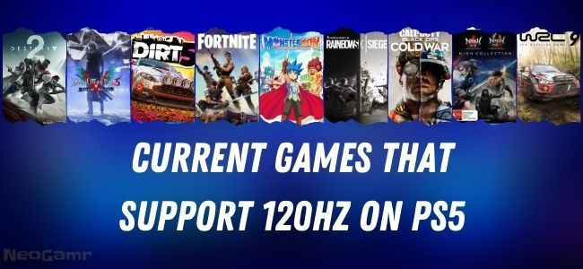 Current Games that support 120hz on ps5