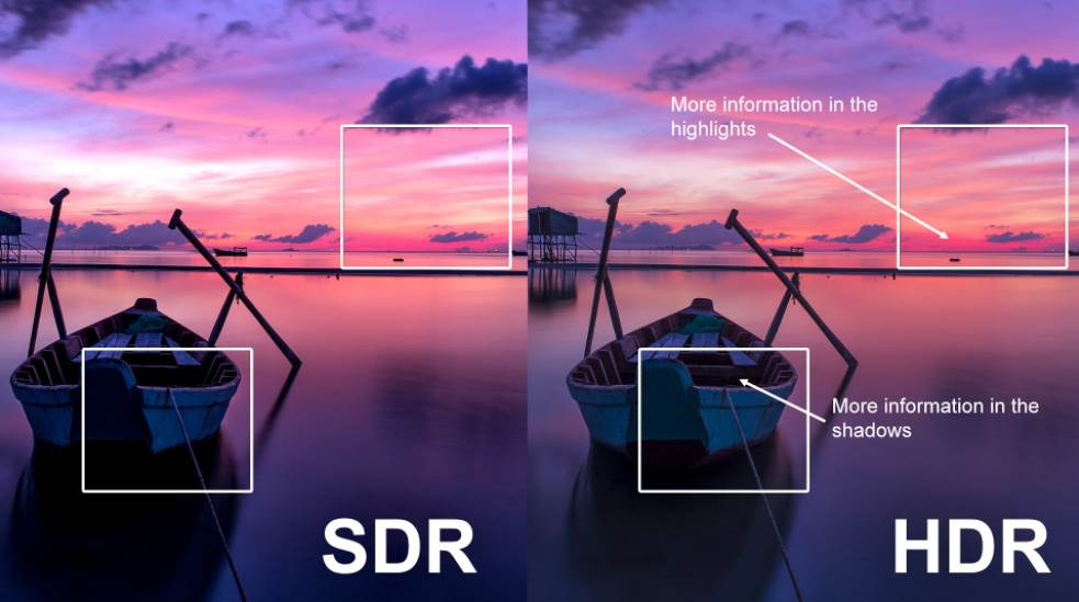 Demonstrating the difference between SDR and HDR