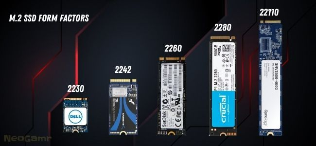 Image of M.2 SSD Form Factors