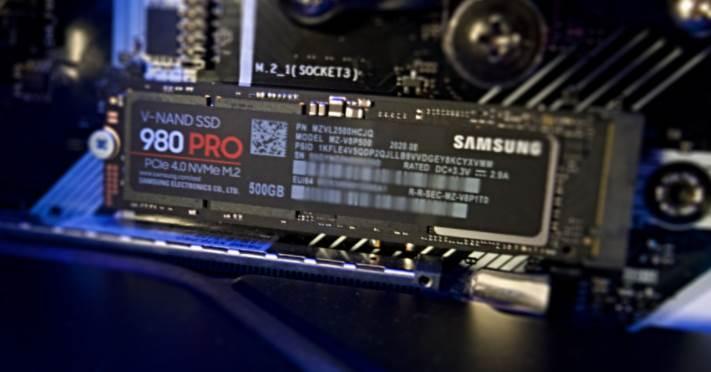 Image of Samsung 980 EVO in PC casing