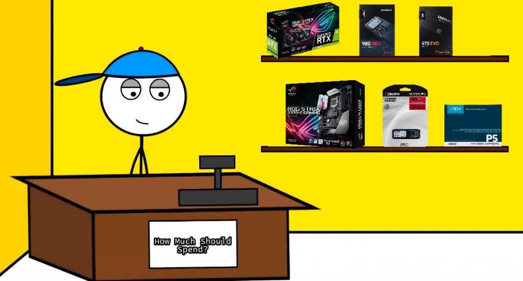 Image of Stickman Selling pc parts