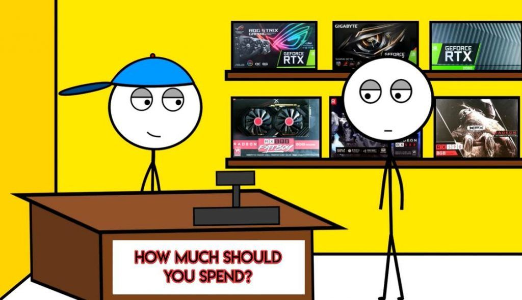 Image of a stickman buying a GPU From PC Store