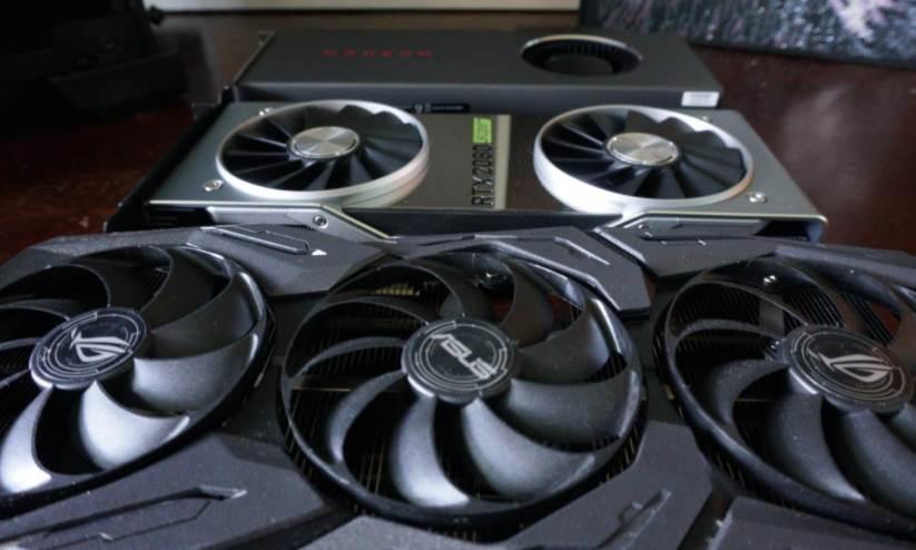 Image of triple fan vs dual fan vs the blower style GPUs