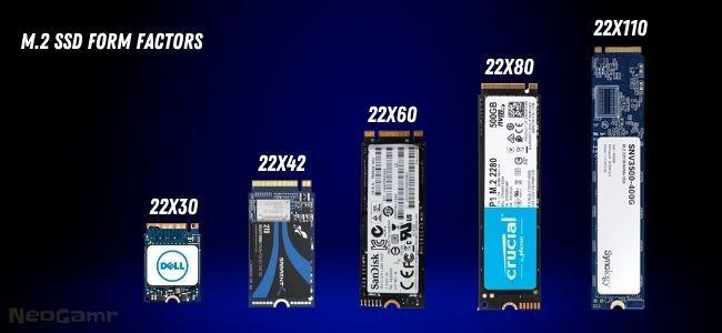 M.2 Nvme SSD Form Factors