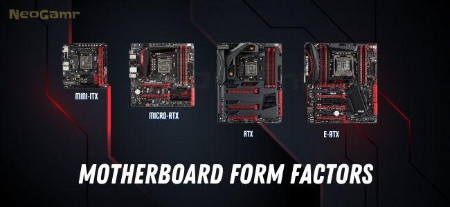 Neogamr's Image of Motherboard Form Factors Explained