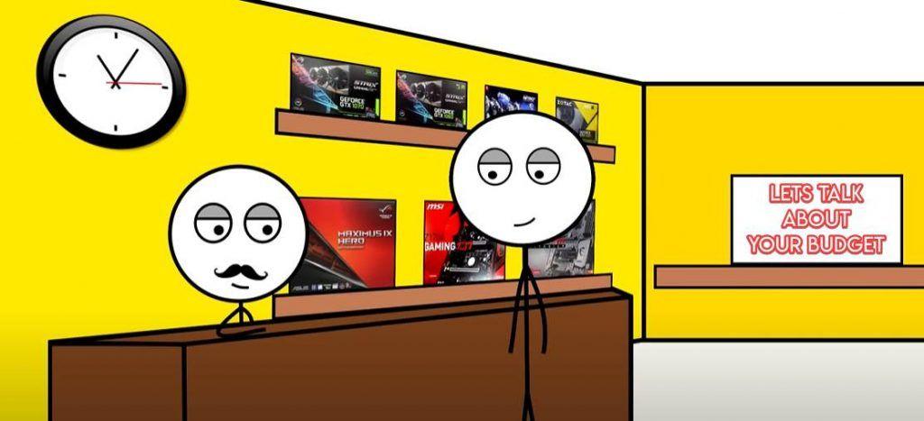 Stickman buying a 2070 gaming laptop
