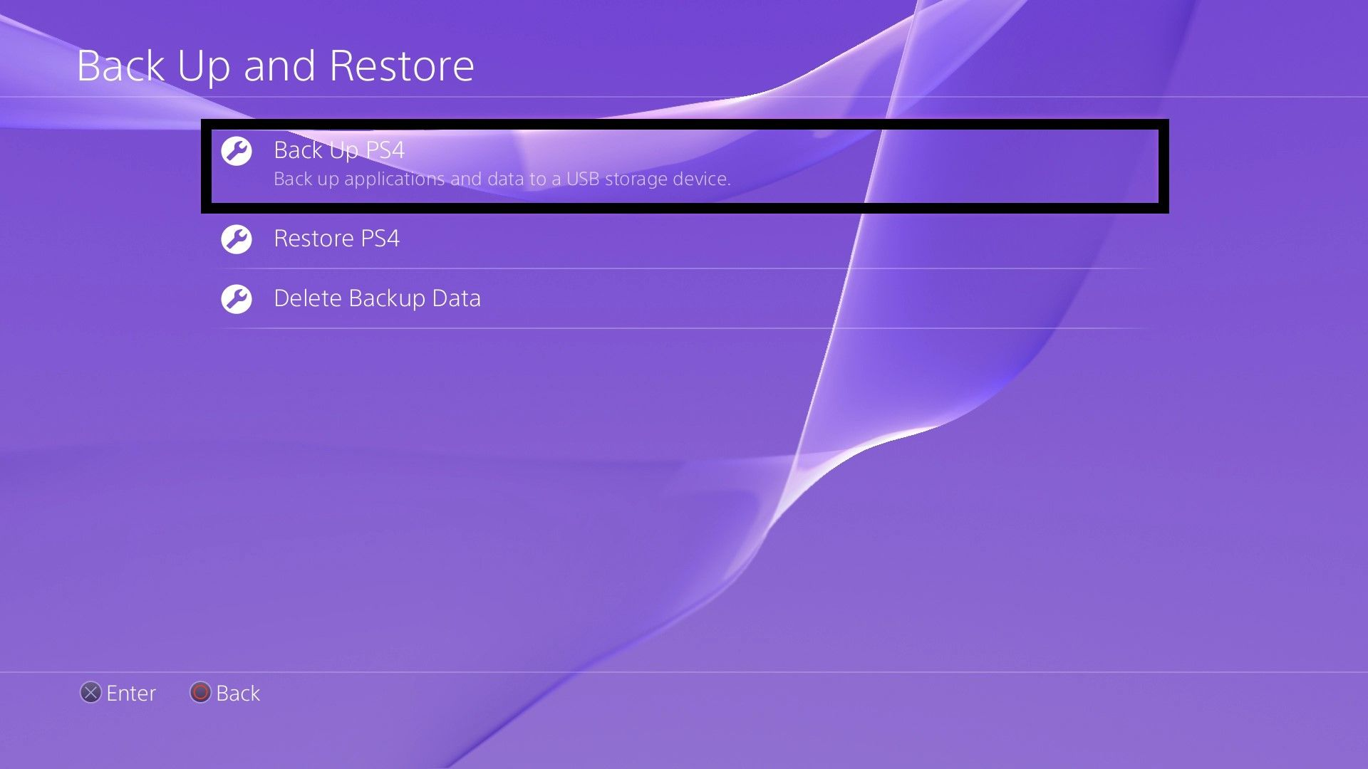 Back Up PS4