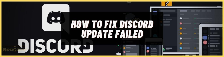 Fix The Discord Update Failed