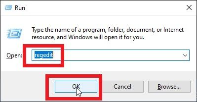 """write """"regedit"""" and it will open"""