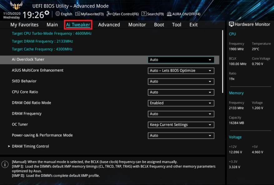 Image of Asus Mobo Bios Options