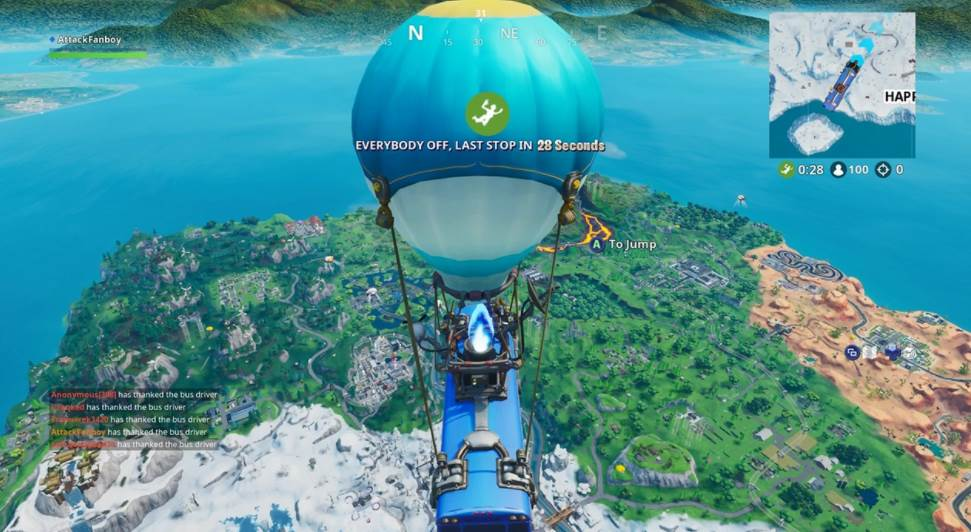 Image of Fortnite bus