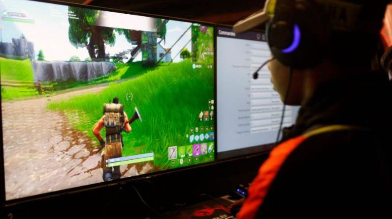 Person Playing Fortnite