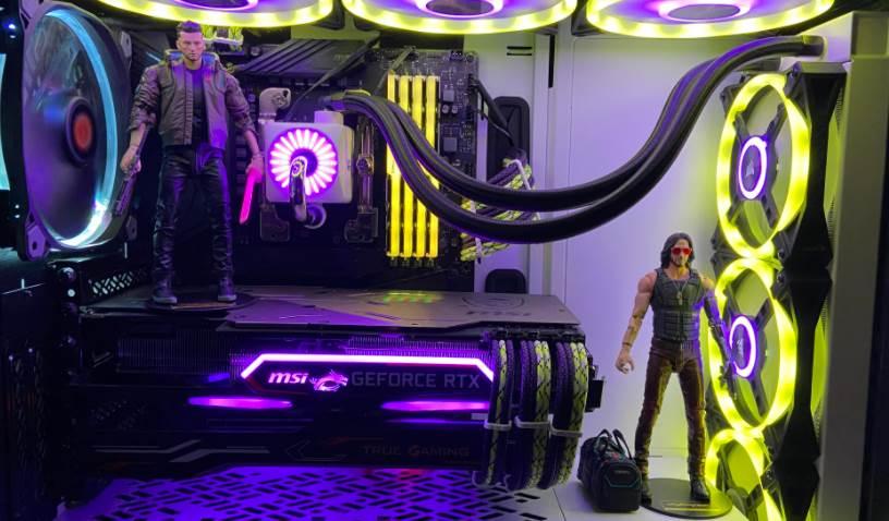 Image of a Cyberpunk themed PC