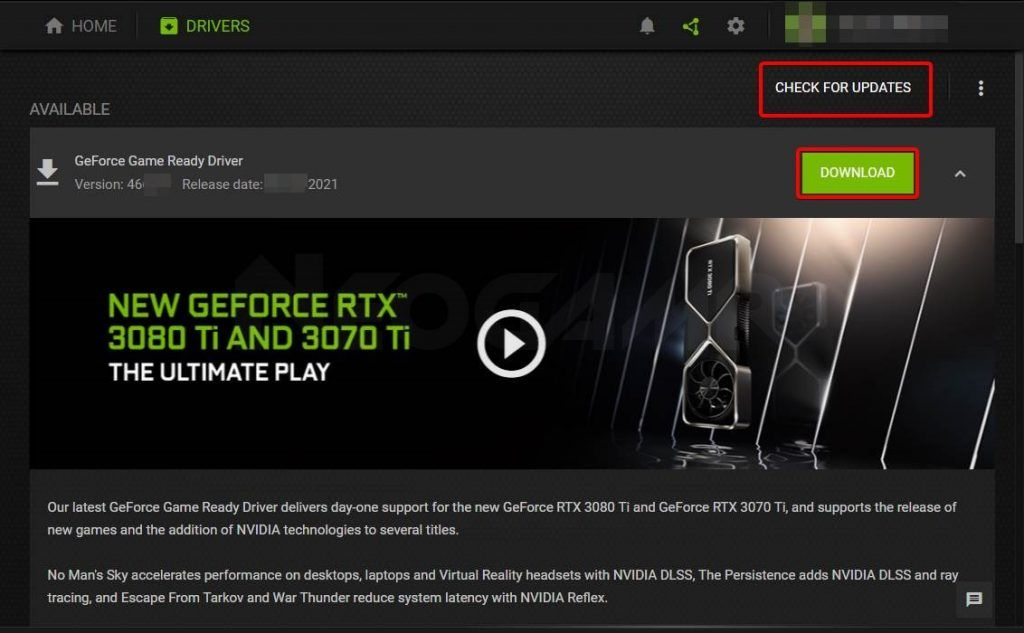 How You Can Check The Drivers Updates in GeForce Experience