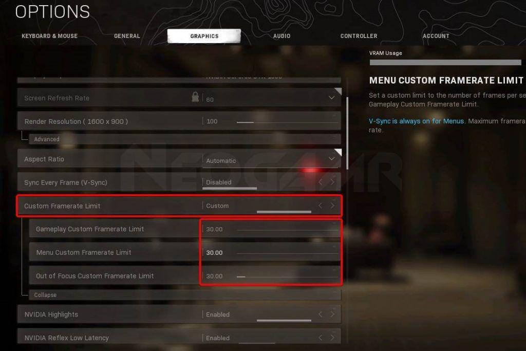 Image of Modern Warfare Custom Gameplay Frame limit