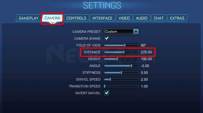 Image of Rocket League Distance Settings