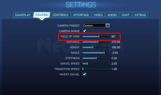 Image of Rocket League Field Of View Settings