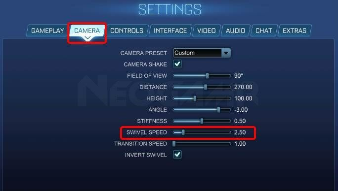 Image of Rocket League Swivel Speed Option