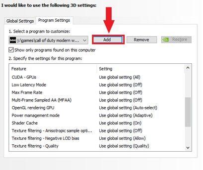Image of program to customize