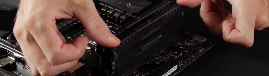 Installing the memory on the motherboard