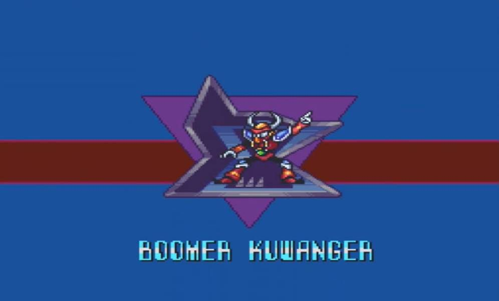 MMX Boomer Kuwanger Boss intro