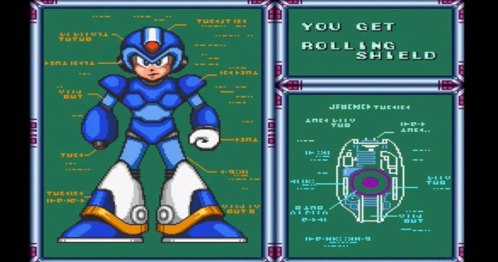 Megaman getting rolling shield attack
