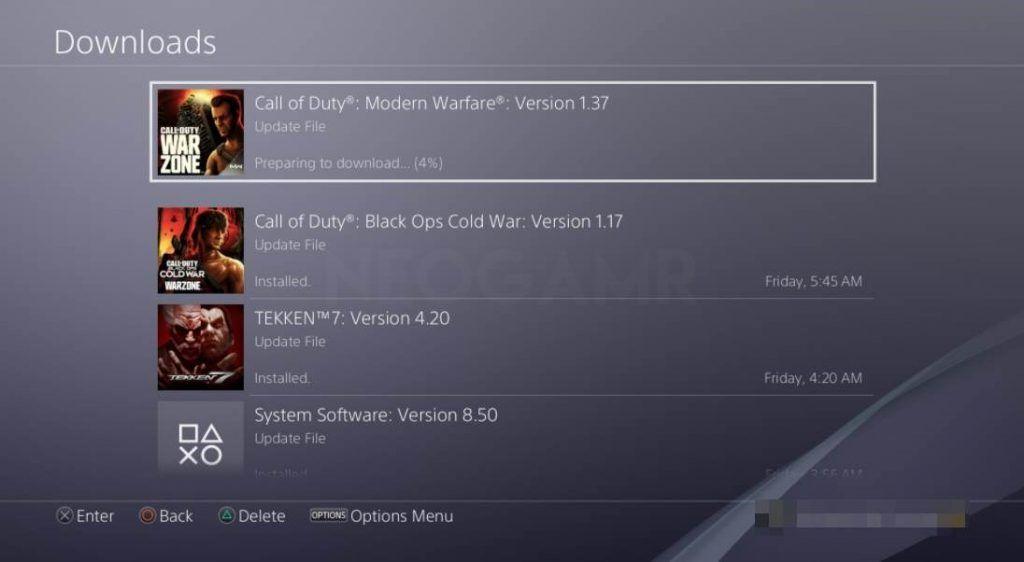 Ps4 Downloads Screen
