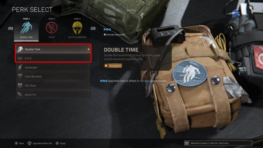 Recommended Perk 1 in Warzone