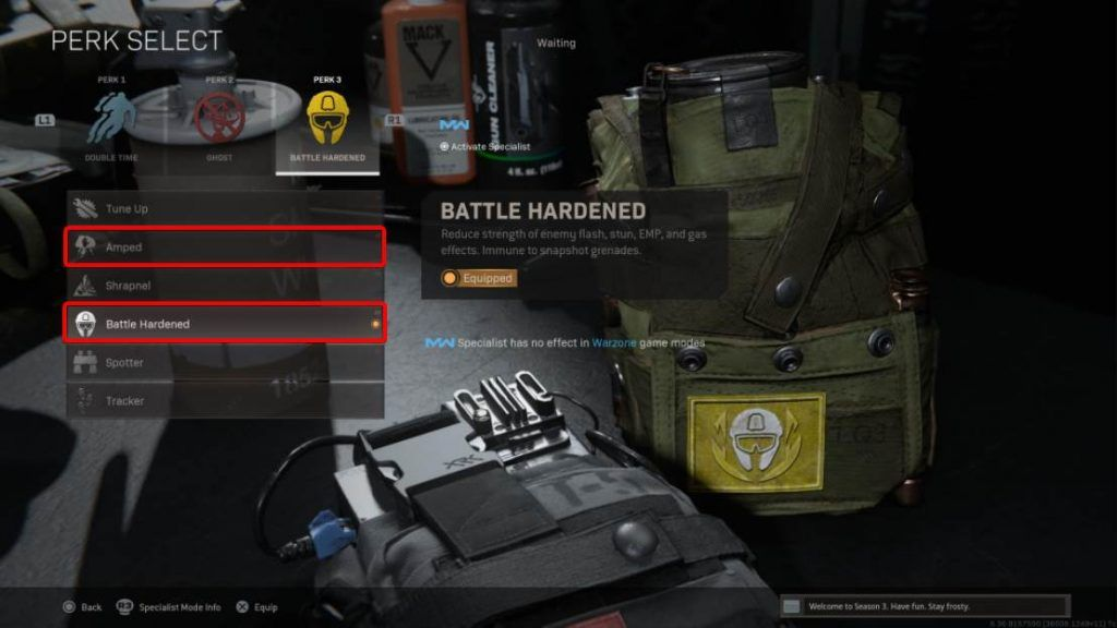 Recommended Perk 3 in Warzone