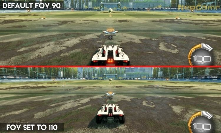Showing the difference in 90 FOV vs 110