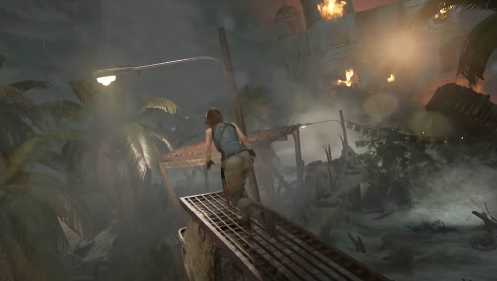 Tomb Raider Tsunami Scene