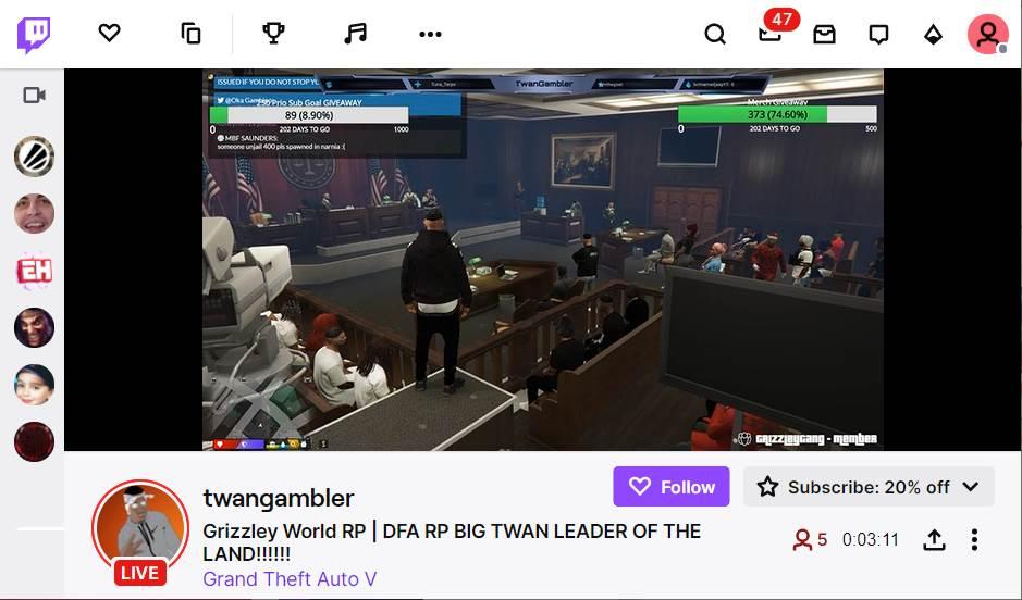 Twitch Channel of TwanGambler