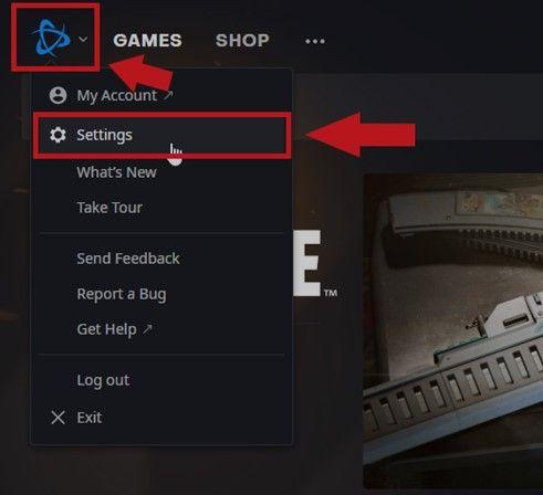 how to open battle,net settings